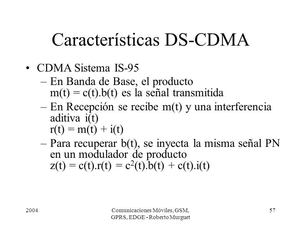 Características DS-CDMA
