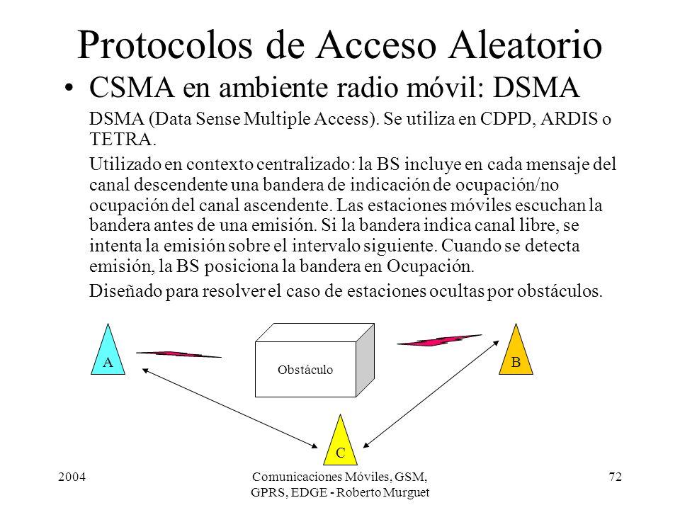 Protocolos de Acceso Aleatorio