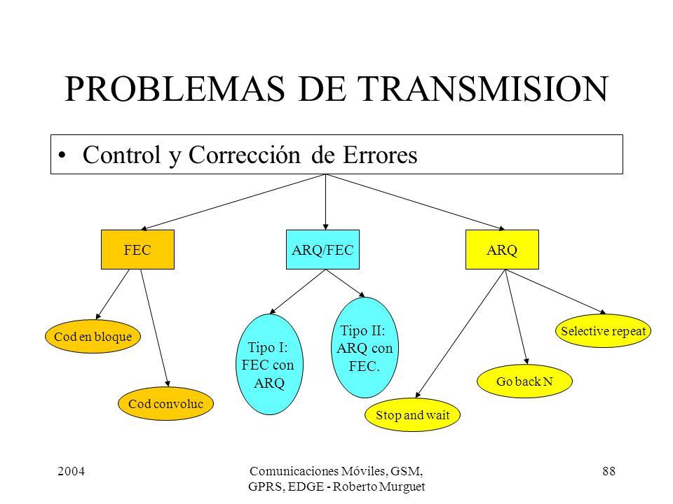 PROBLEMAS DE TRANSMISION