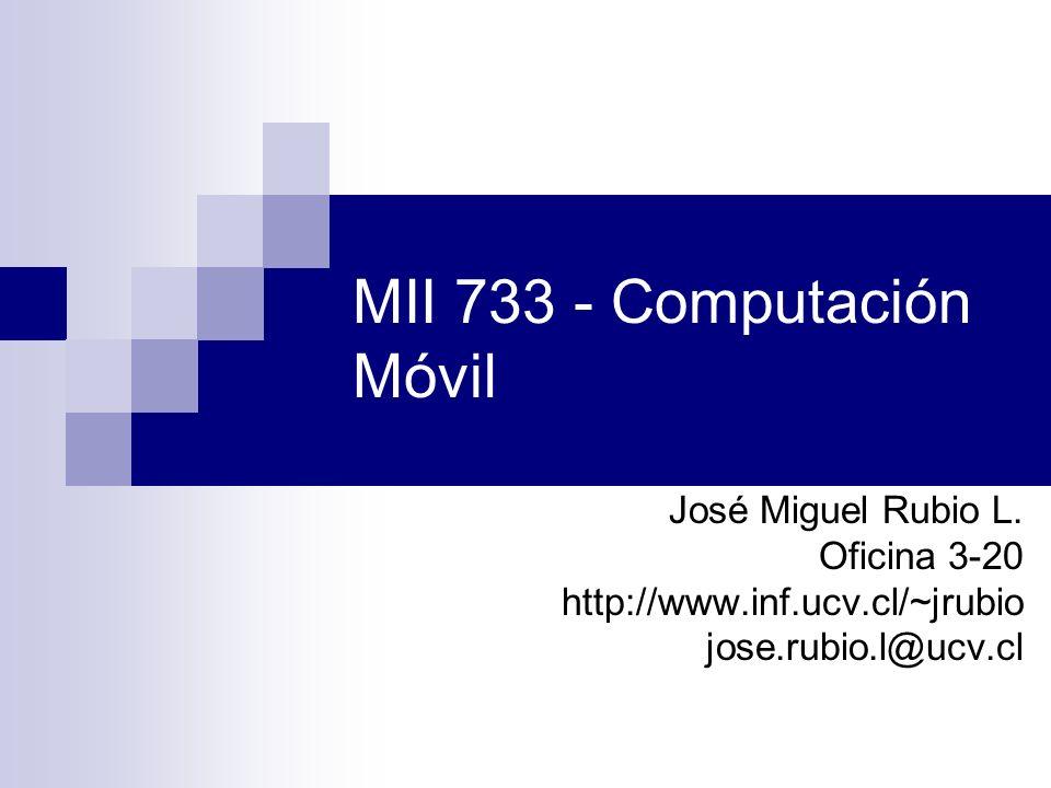 MII 733 - Computación Móvil
