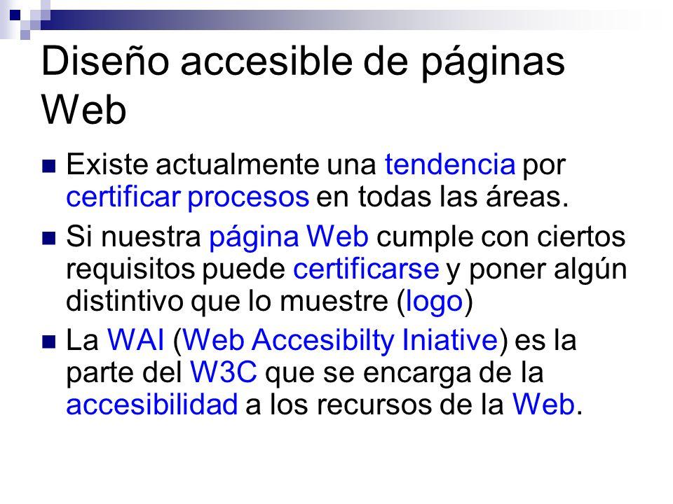 Diseño accesible de páginas Web