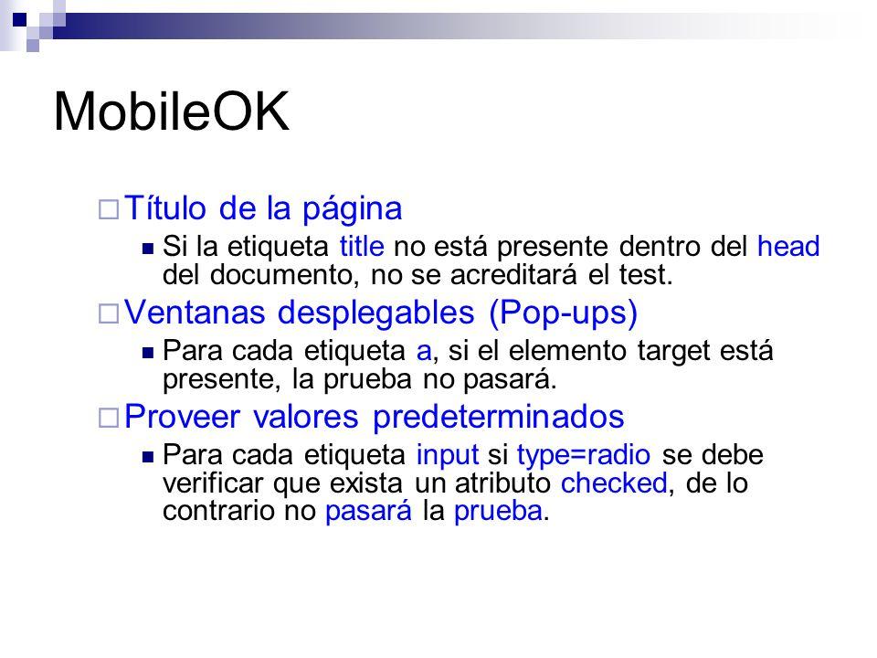 MobileOK Título de la página Ventanas desplegables (Pop-ups)