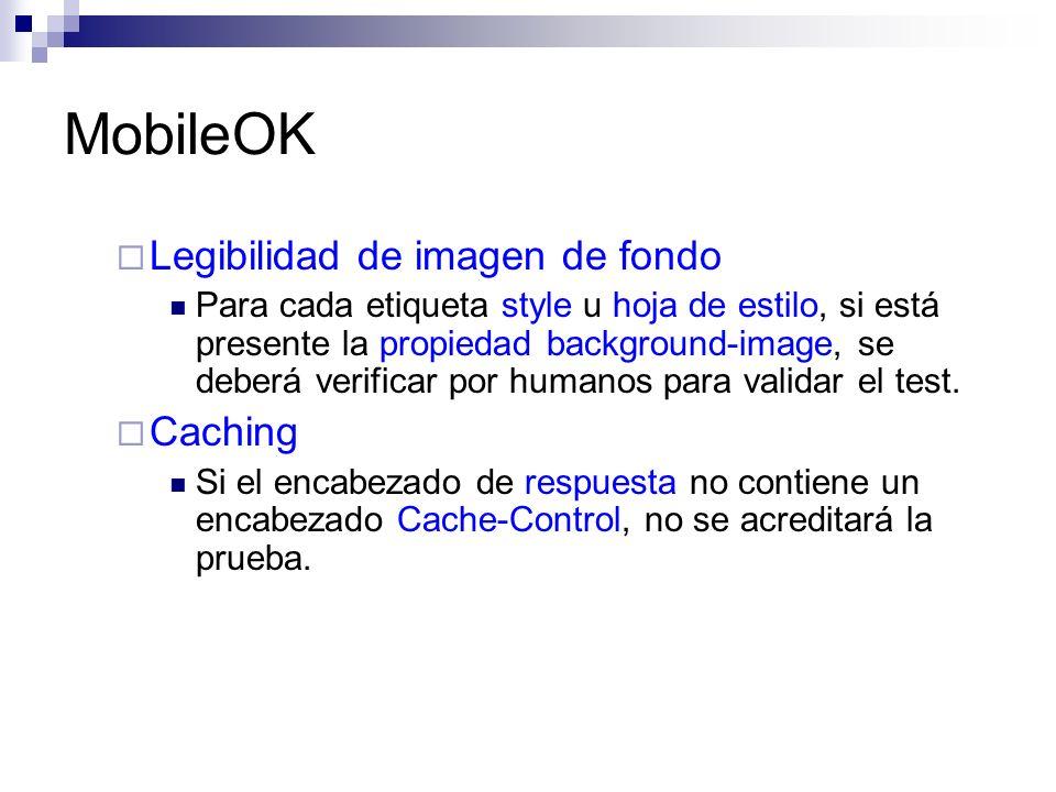 MobileOK Legibilidad de imagen de fondo Caching