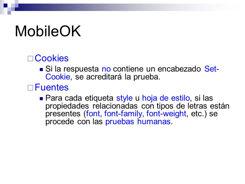 MobileOK Cookies Fuentes
