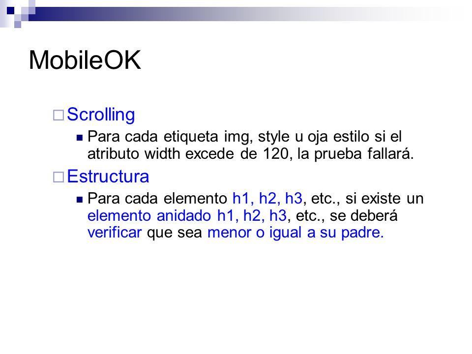 MobileOK Scrolling Estructura