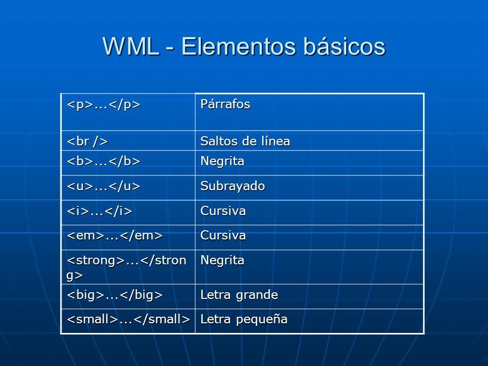 WML - Elementos básicos