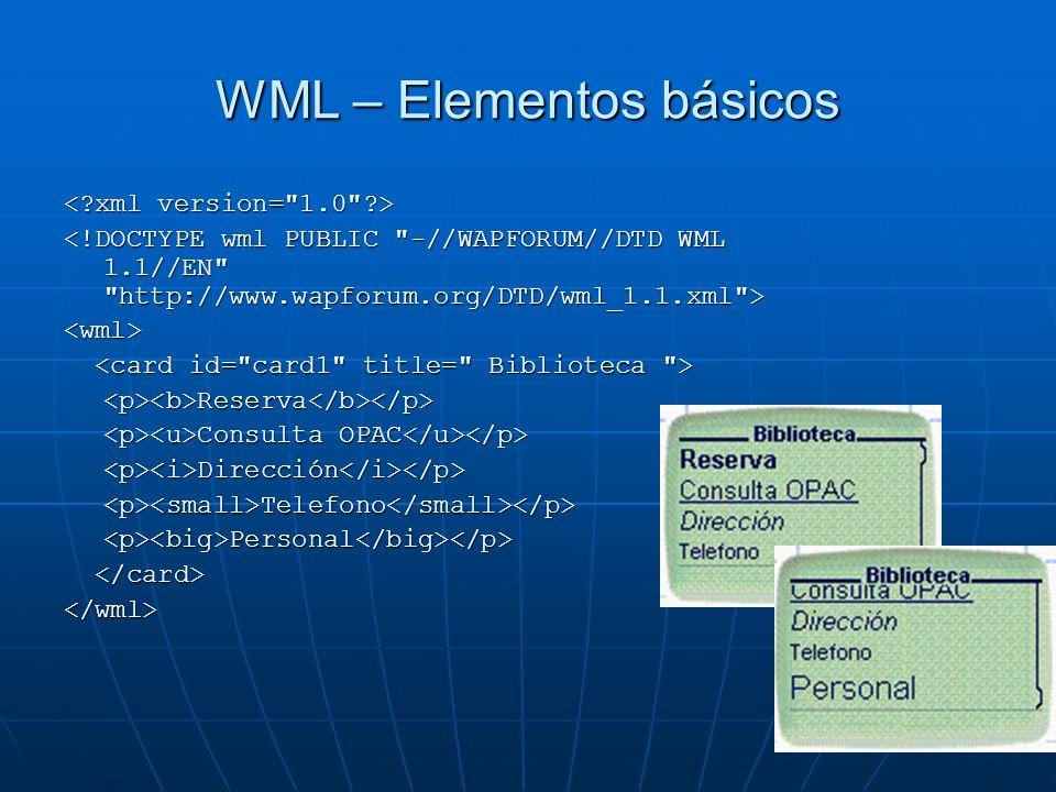 WML – Elementos básicos