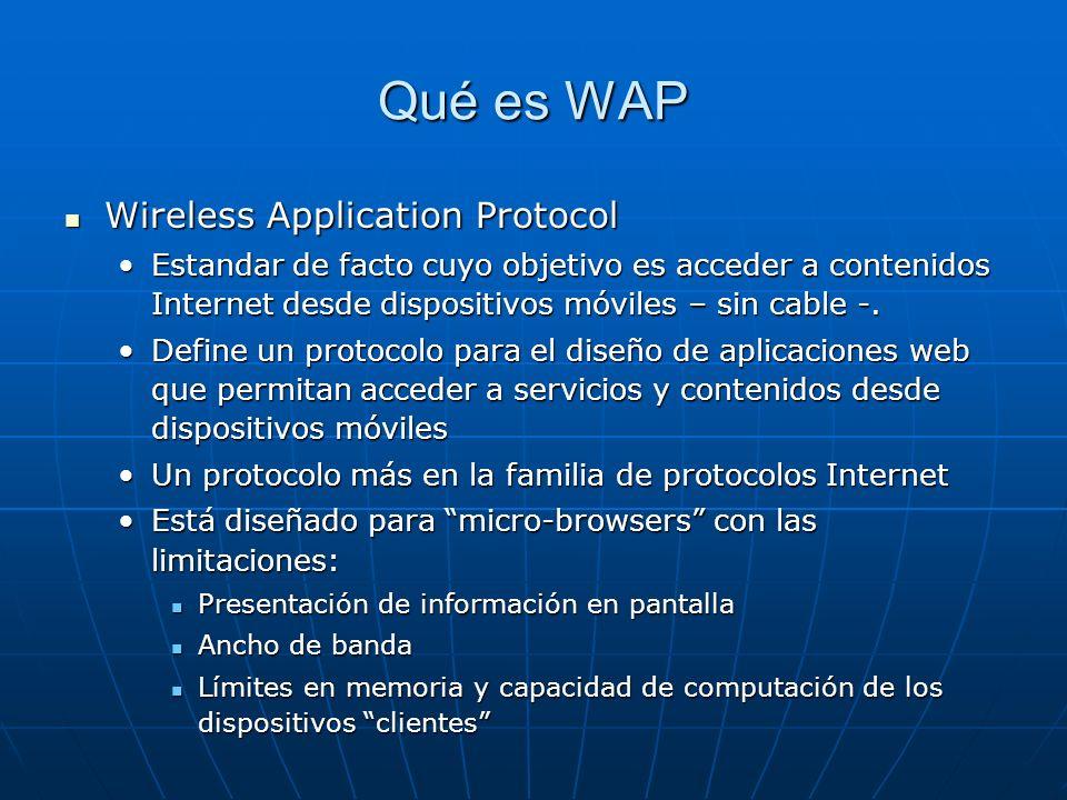 Qué es WAP Wireless Application Protocol
