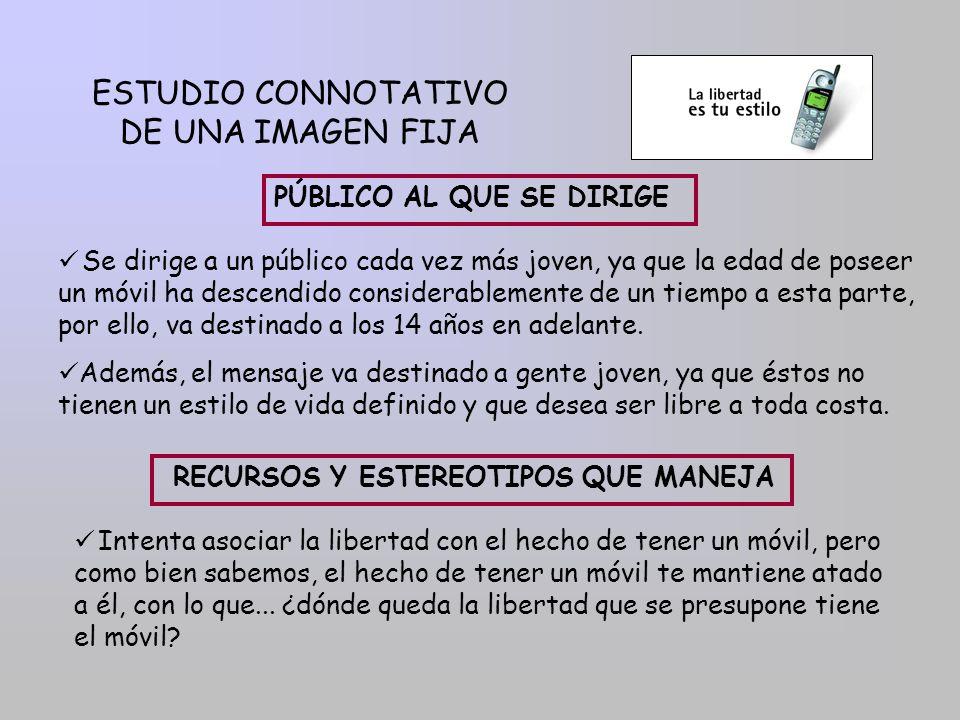 ESTUDIO CONNOTATIVO DE UNA IMAGEN FIJA