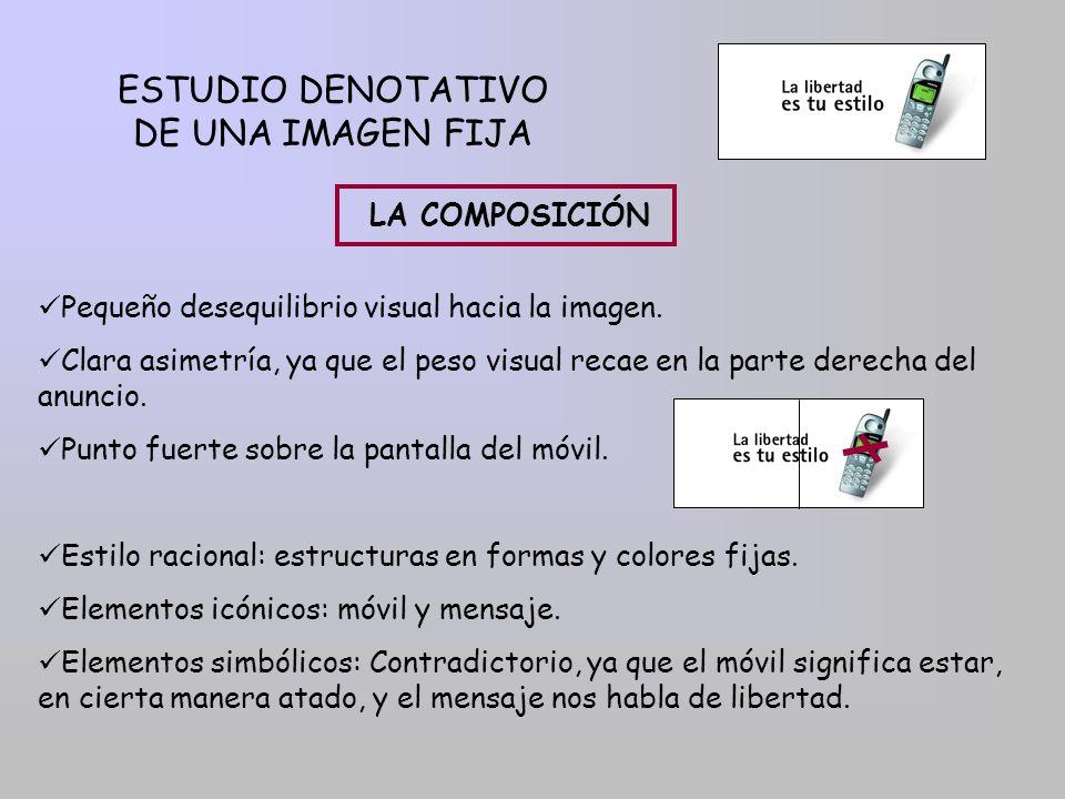ESTUDIO DENOTATIVO DE UNA IMAGEN FIJA