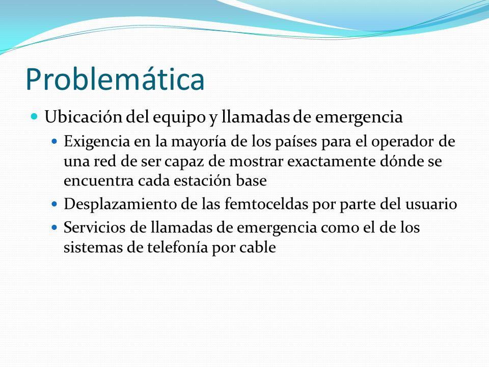 Problemática Ubicación del equipo y llamadas de emergencia