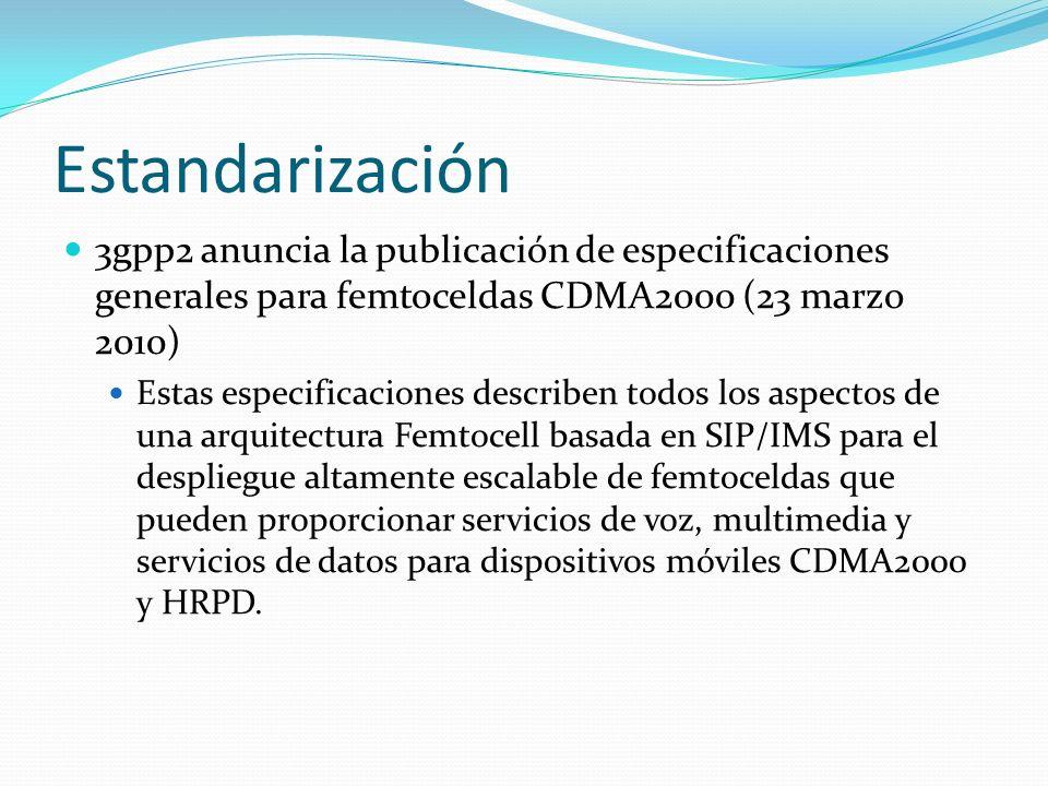 Estandarización 3gpp2 anuncia la publicación de especificaciones generales para femtoceldas CDMA2000 (23 marzo 2010)