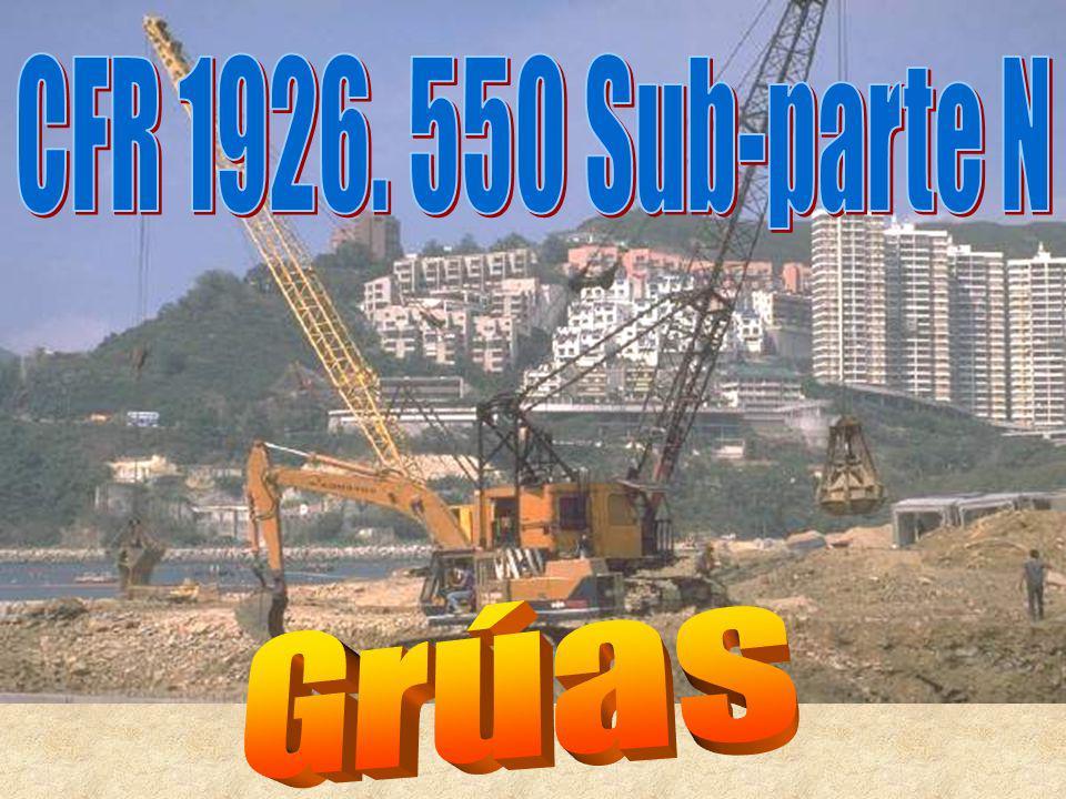 CFR 1926. 550 Sub-parte N Grúas