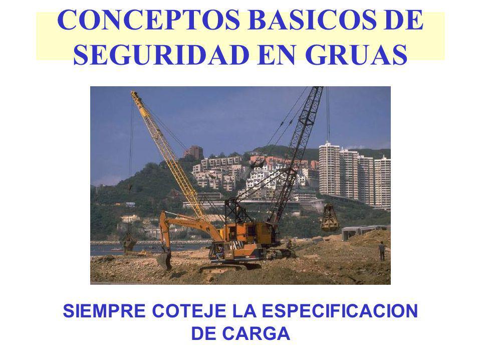 CONCEPTOS BASICOS DE SEGURIDAD EN GRUAS