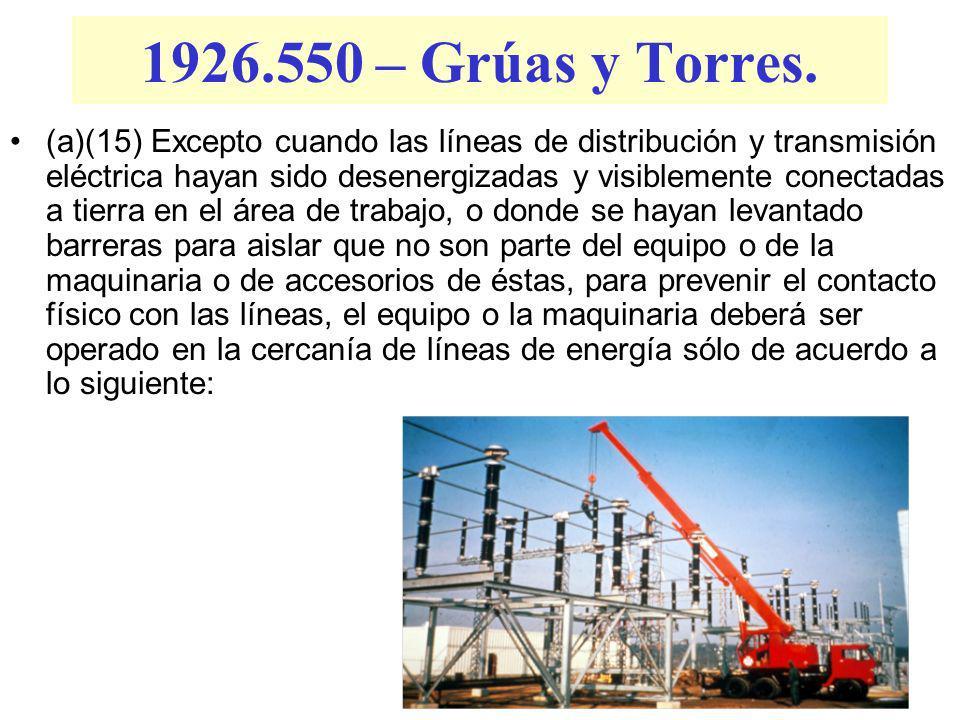 1926.550 – Grúas y Torres.