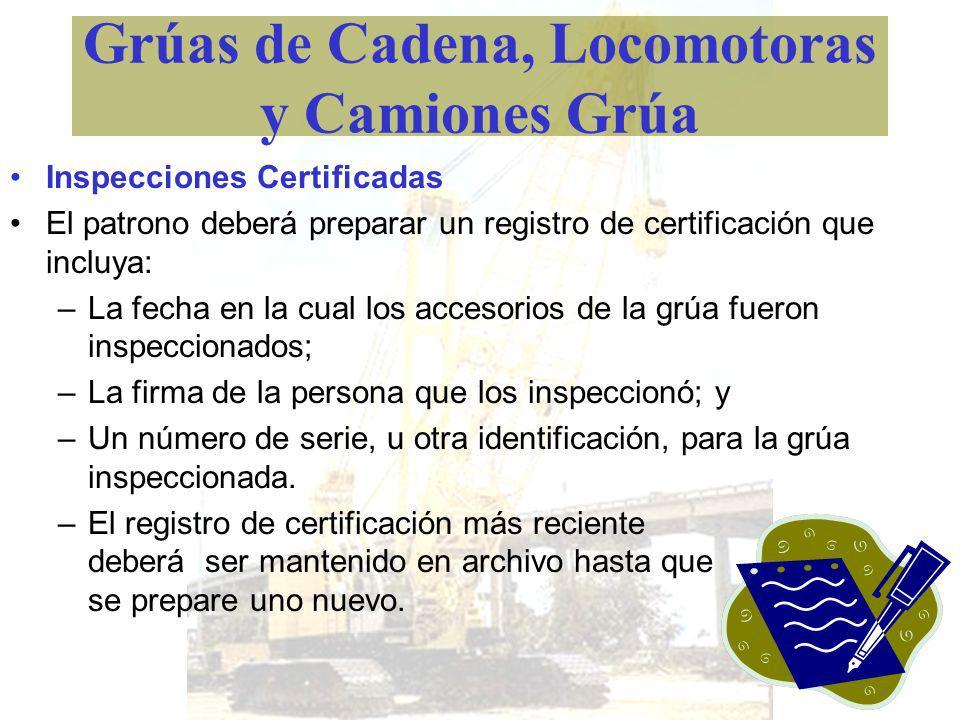 Grúas de Cadena, Locomotoras y Camiones Grúa