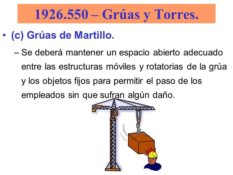 1926.550 – Grúas y Torres. (c) Grúas de Martillo.