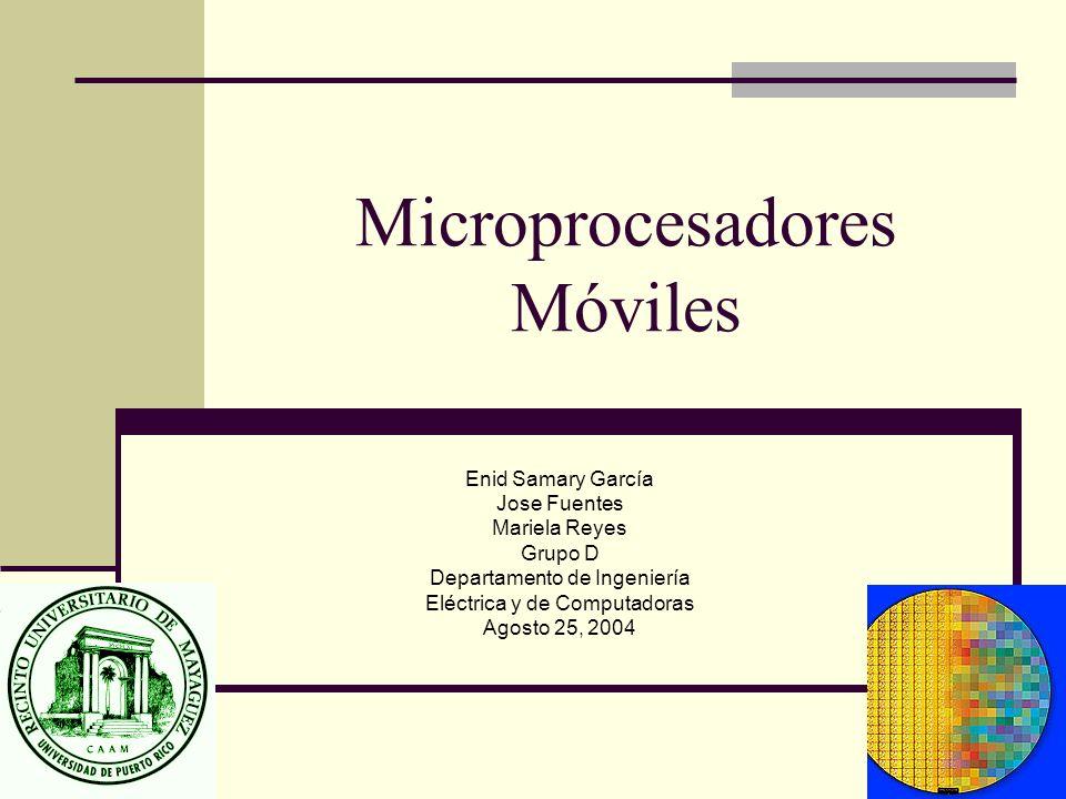 Microprocesadores Móviles