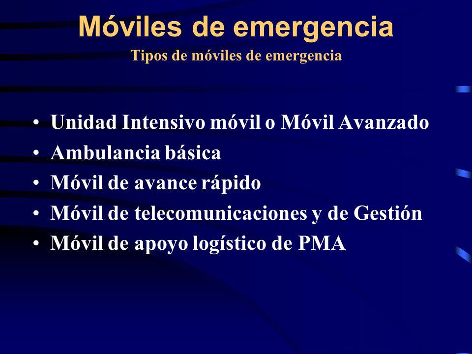 Tipos de móviles de emergencia