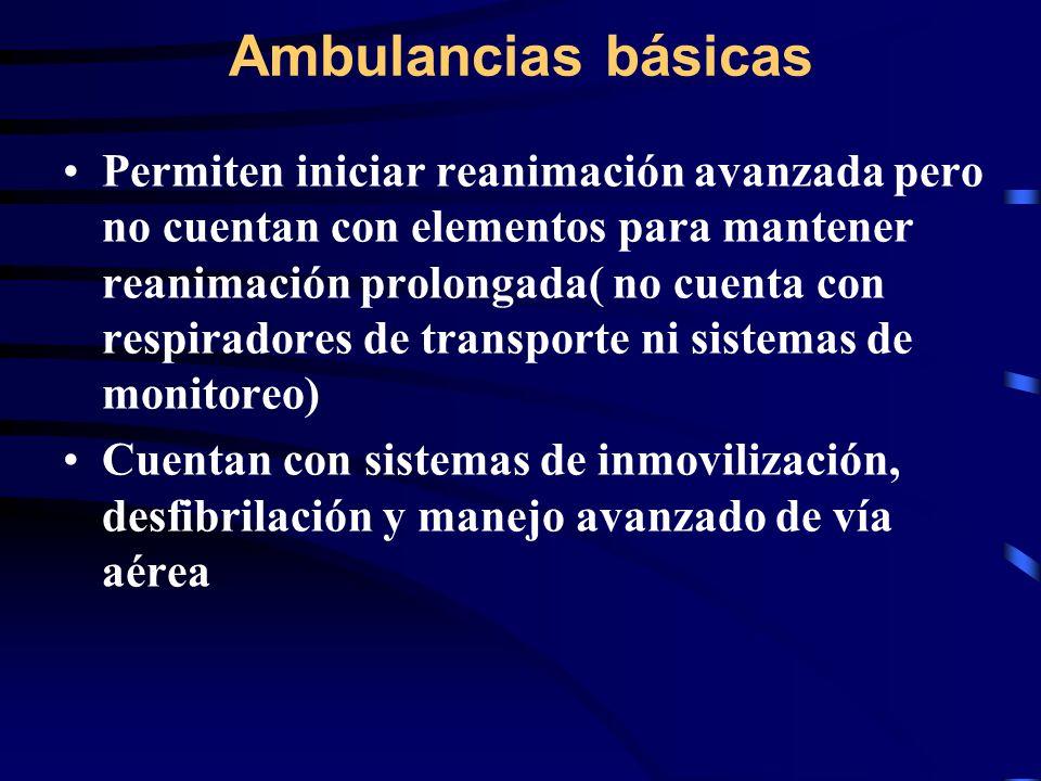 Ambulancias básicas