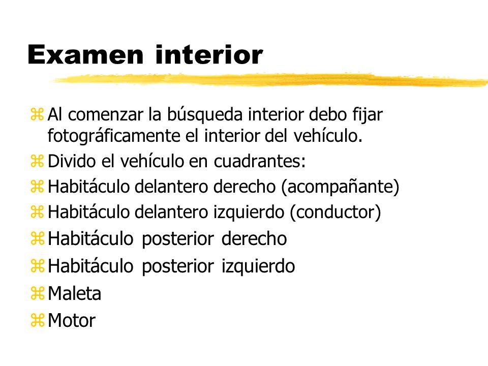 Examen interior Habitáculo posterior derecho