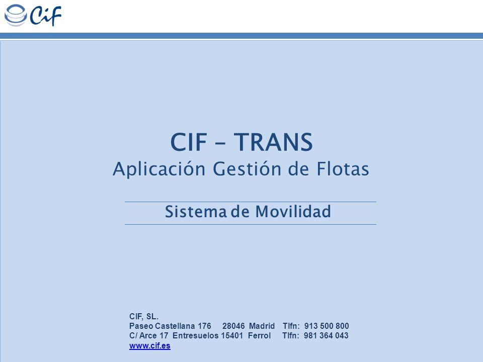CIF – TRANS Aplicación Gestión de Flotas