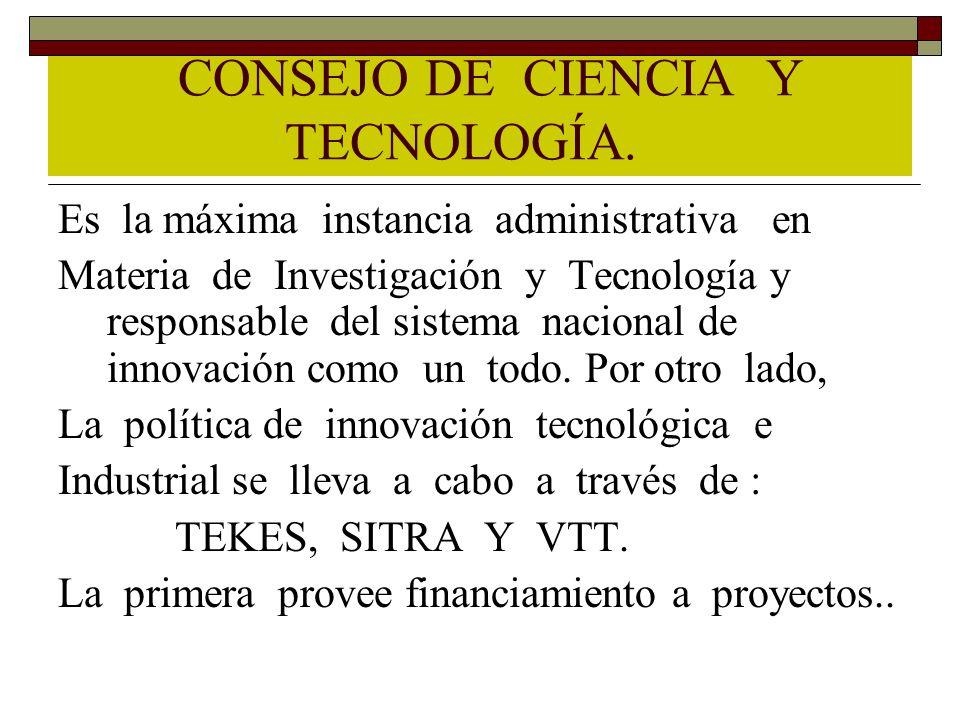 CONSEJO DE CIENCIA Y TECNOLOGÍA.