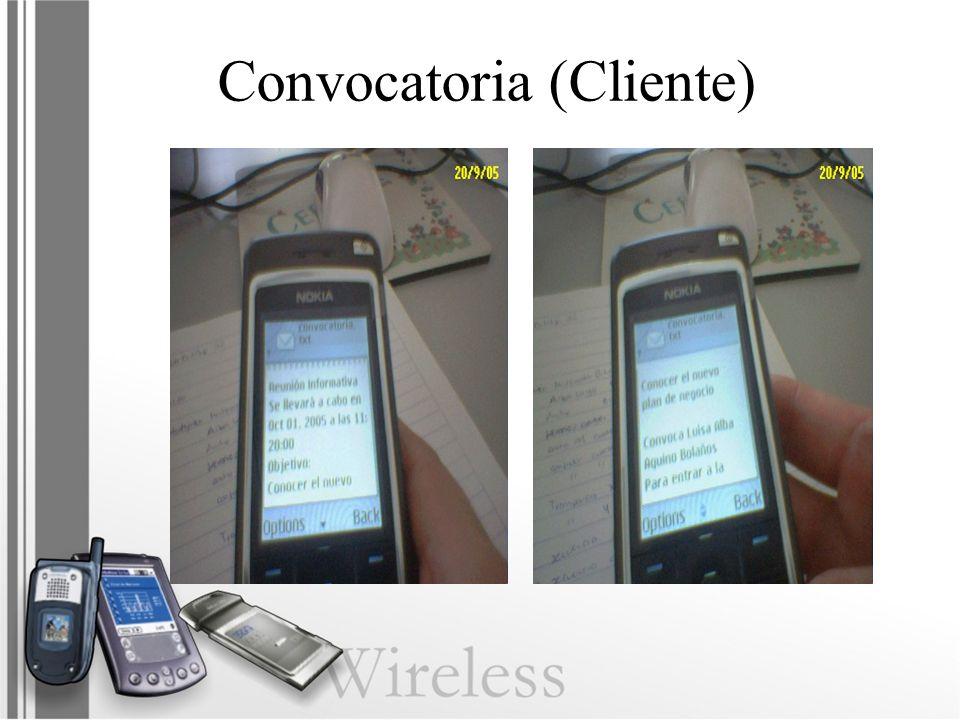 Convocatoria (Cliente)