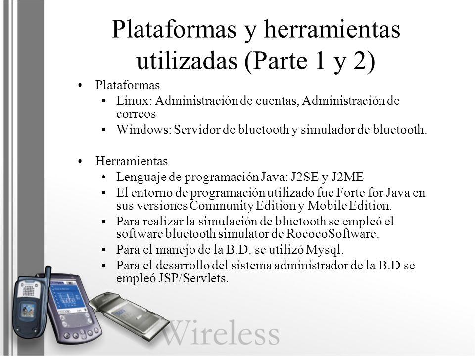 Plataformas y herramientas utilizadas (Parte 1 y 2)