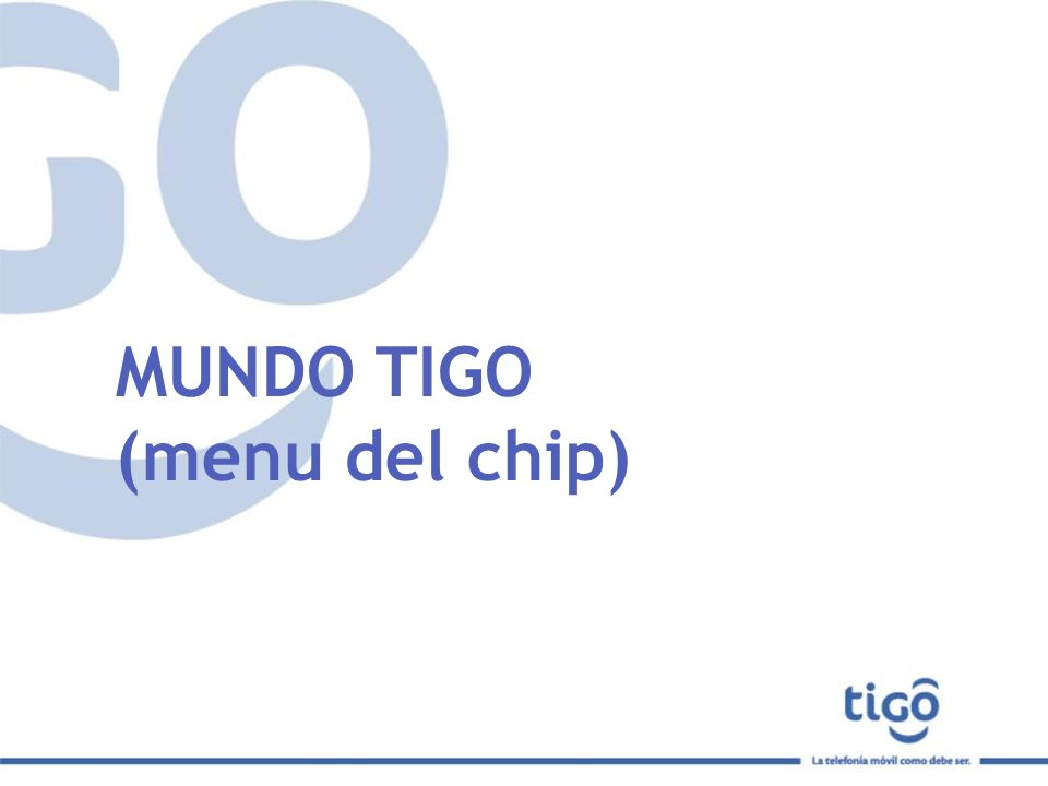 MUNDO TIGO (menu del chip)