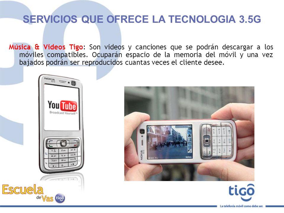 SERVICIOS QUE OFRECE LA TECNOLOGIA 3.5G