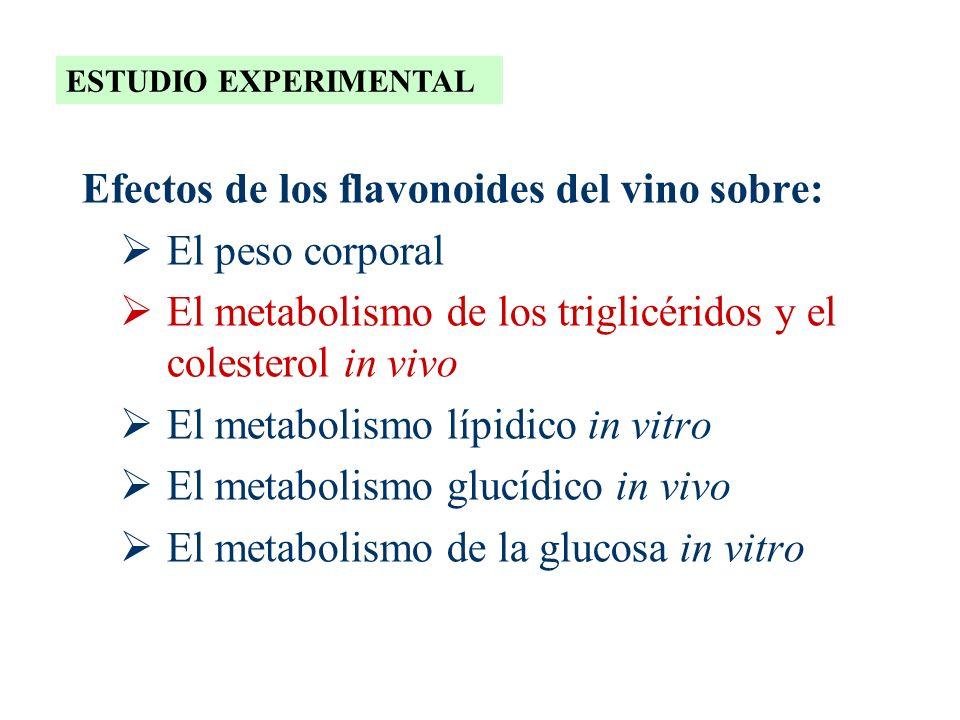 Efectos de los flavonoides del vino sobre: El peso corporal