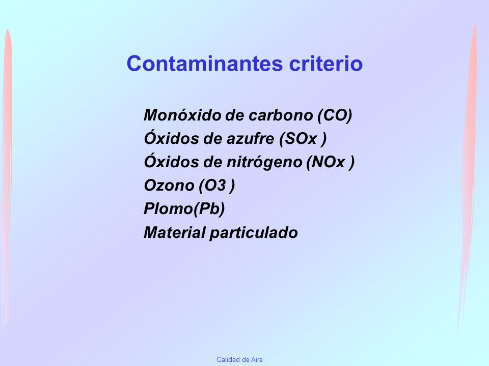 Contaminantes criterio