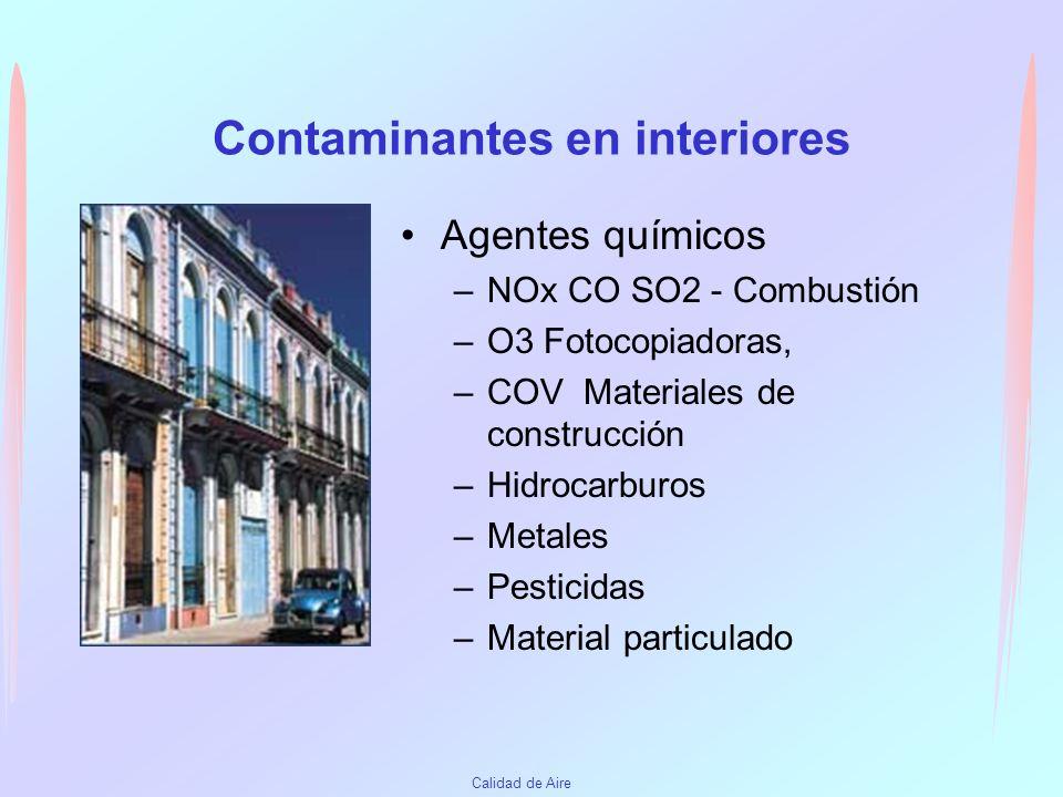 Contaminantes en interiores