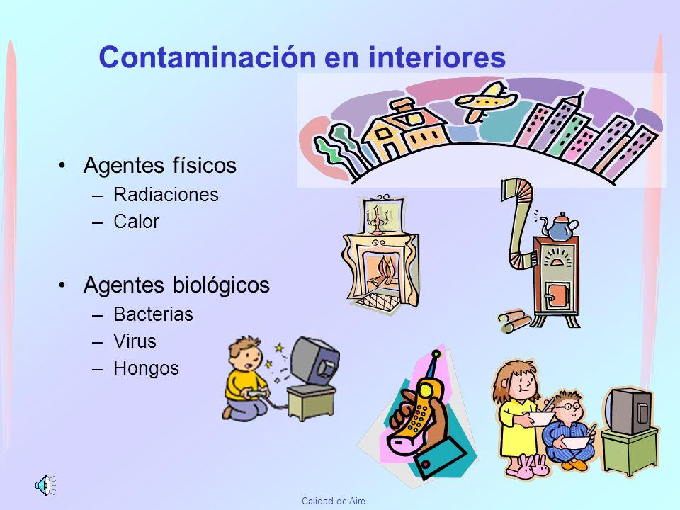 Contaminación en interiores