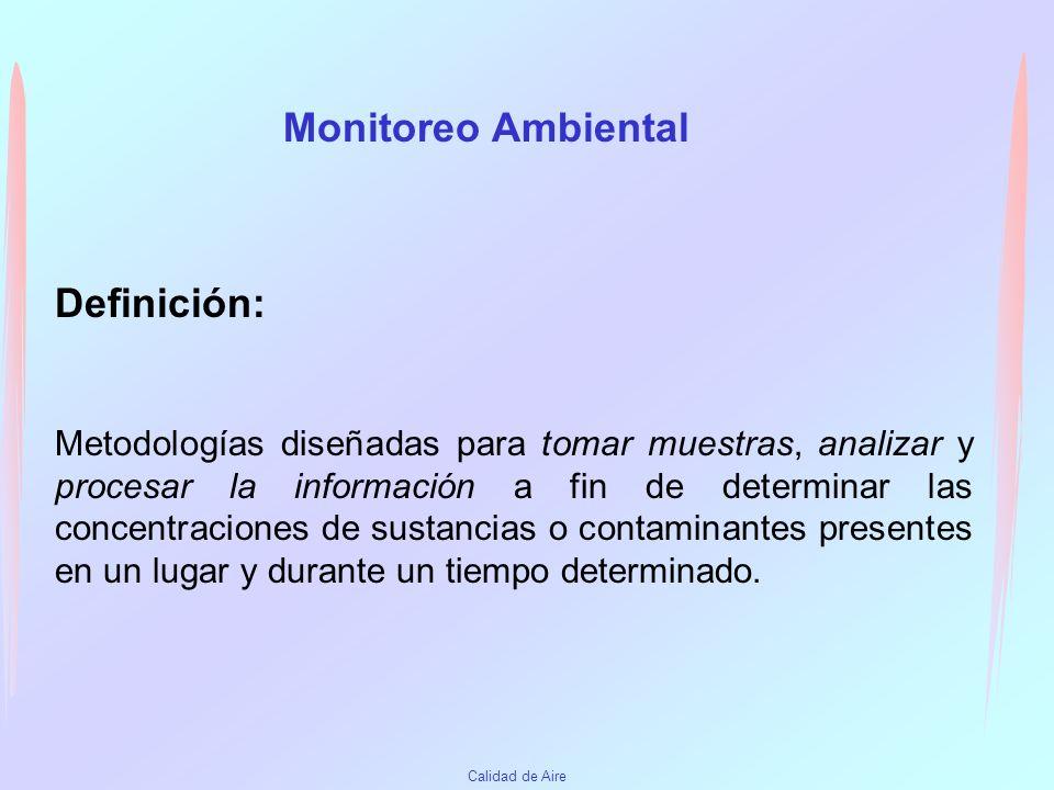 Monitoreo Ambiental Definición: