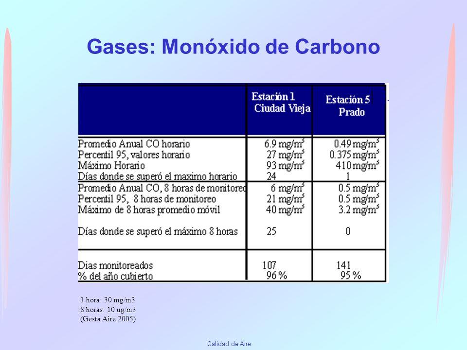 Gases: Monóxido de Carbono