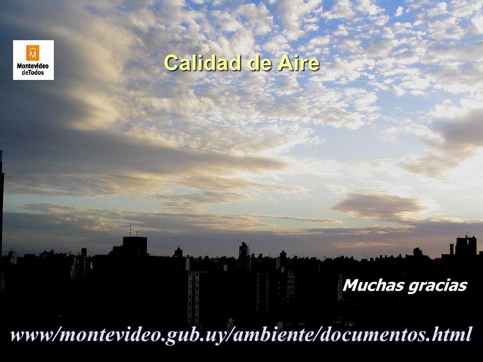 Calidad de Aire www/montevideo.gub.uy/ambiente/documentos.html