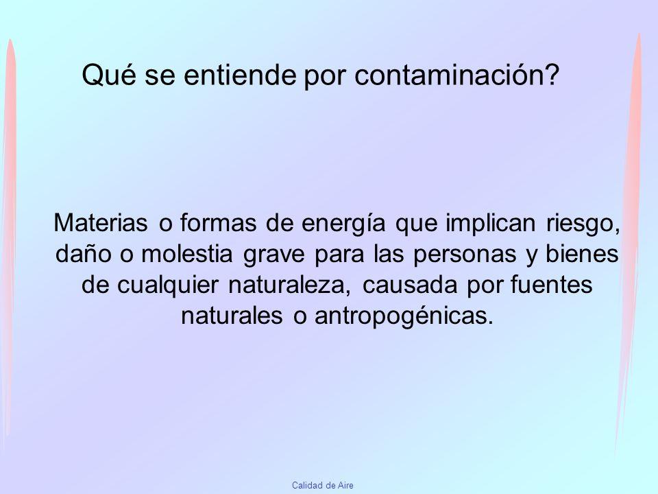 Qué se entiende por contaminación