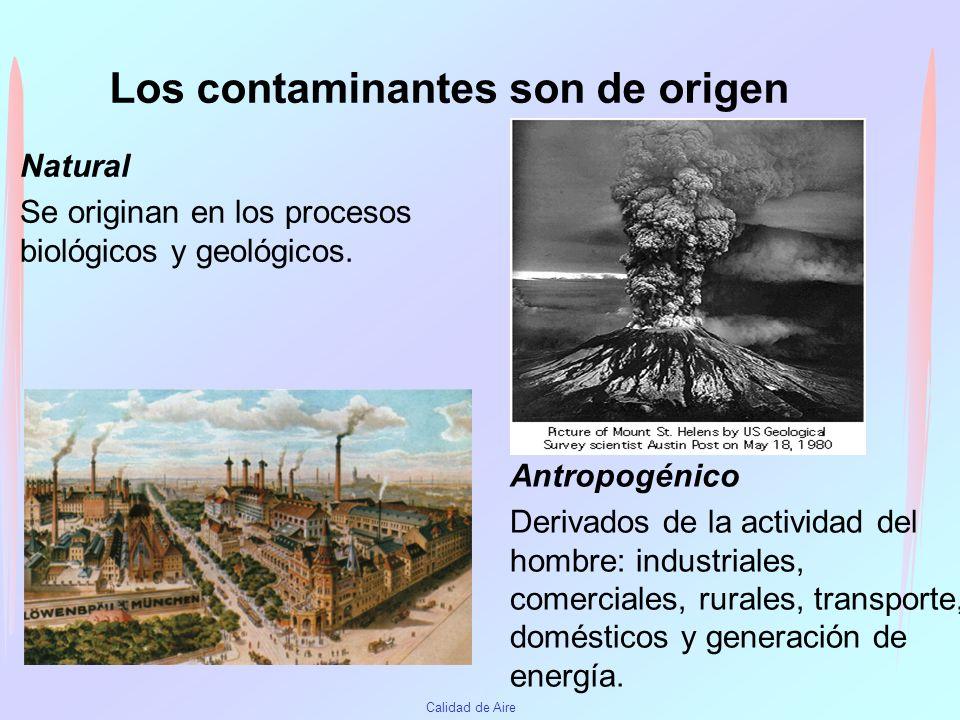 Los contaminantes son de origen