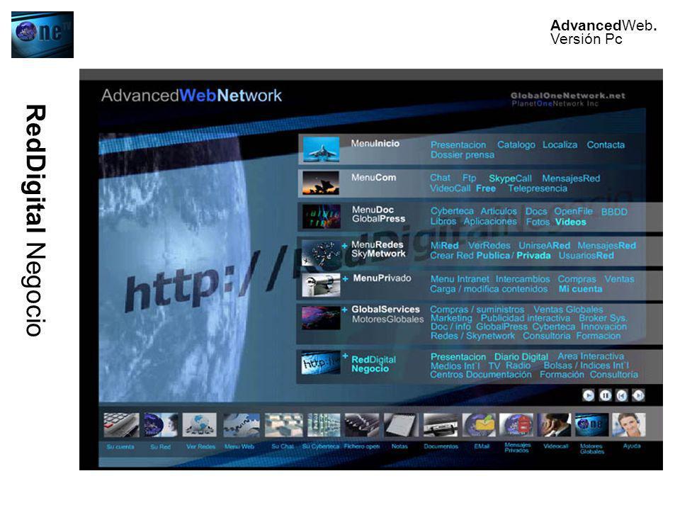 AdvancedWeb. Versión Pc RedDigital Negocio