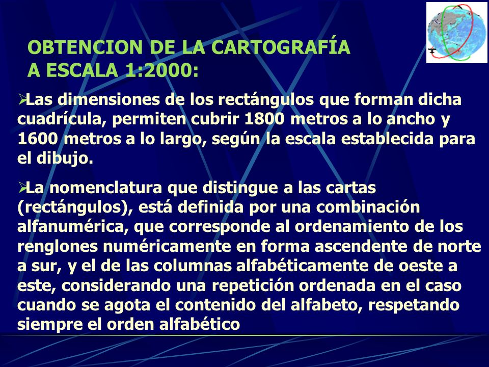 OBTENCION DE LA CARTOGRAFÍA A ESCALA 1:2000: