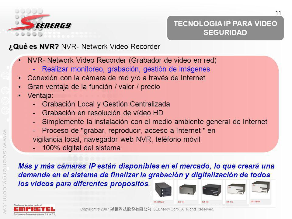¿Qué es NVR NVR- Network Video Recorder