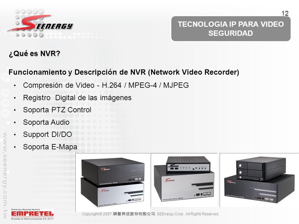 Funcionamiento y Descripción de NVR (Network Video Recorder)