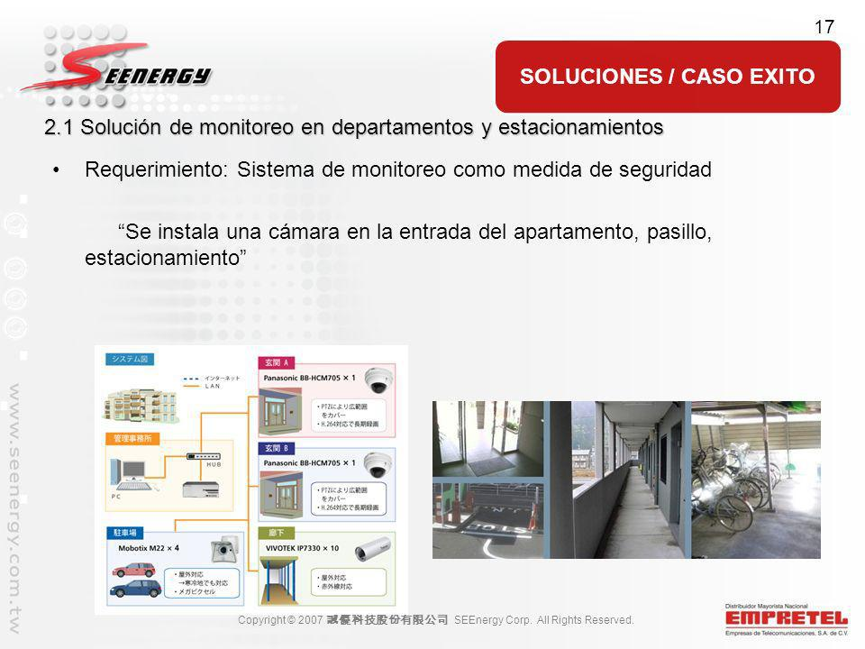2.1 Solución de monitoreo en departamentos y estacionamientos