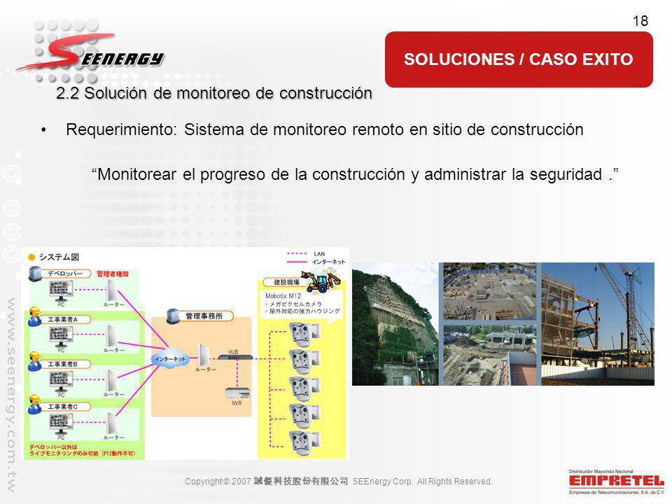 2.2 Solución de monitoreo de construcción