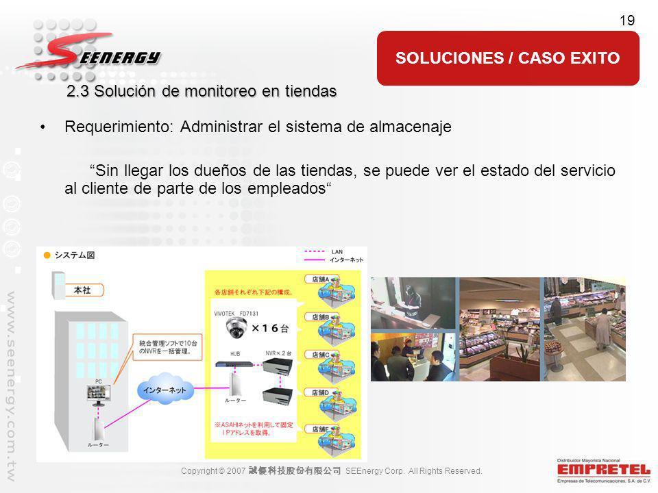 2.3 Solución de monitoreo en tiendas