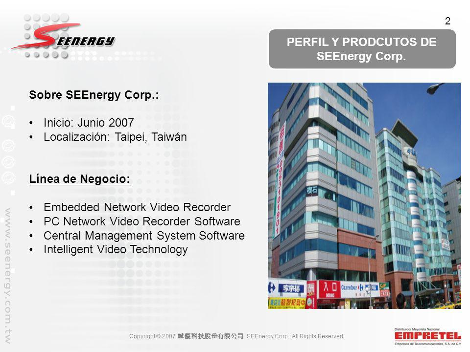 PERFIL Y PRODCUTOS DE SEEnergy Corp.