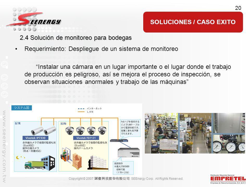 2.4 Solución de monitoreo para bodegas
