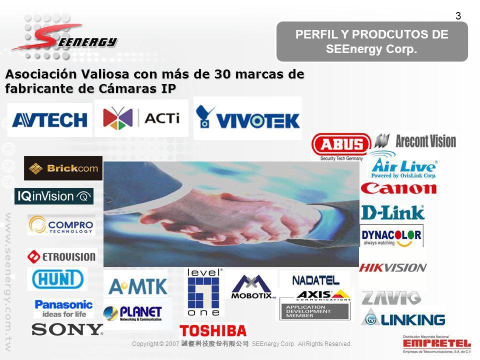 Asociación Valiosa con más de 30 marcas de fabricante de Cámaras IP